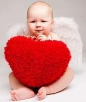 Baby mit Herz