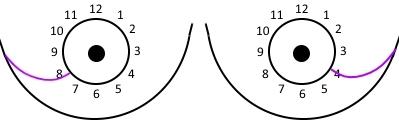 Schematische Zeichnung der Brust mit den seitlichen Interkostalnerven