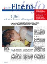 Cover des E-Papers Eltern-Info: Stillen mit dem Brusternährungsset